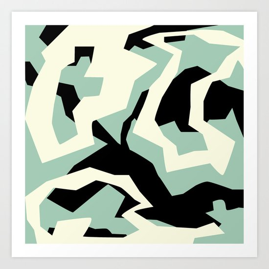 Camouflage:RAW Art Print