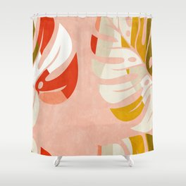 shapes leave minimal abstract art Shower Curtain
