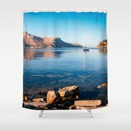 Silent Waters - Kalymnos Shower Curtain
