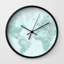 World Map Landscape Wall Clock