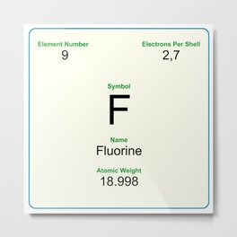 9 Fluorine Metal Print