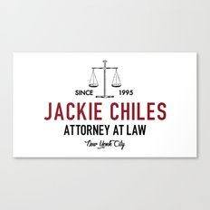 Jackie Chiles - Attorney at Law Canvas Print