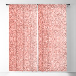 Living coral light glitter sparkles Blackout Curtain