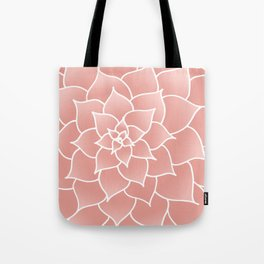 Abstract Modern Pink Rose Flower Tote Bag
