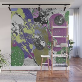 Gather Together - Abstract, pastel coloured, textured, artwork Wall Mural