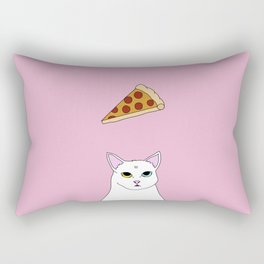 Fat D. Loves Pizza Rectangular Pillow
