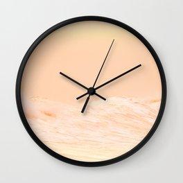 Ocean Waves Peach Wall Clock