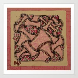 Valentangle Romance I Art Print