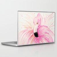 flamingo Laptop & iPad Skins featuring FLAMINGO by Monika Strigel