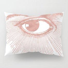 I see you. Rose Gold Pink Quartz on White Pillow Sham