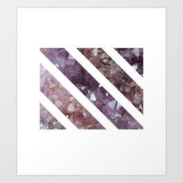 IPHONE: StripedSquareGEO Art Print