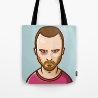 jesse pinkman Tote Bags featuring Jesse Pinkman by Sherif Adel