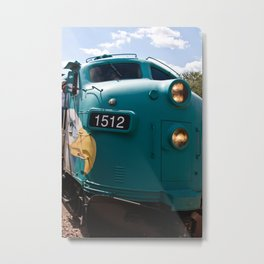 Train In Your Face Metal Print