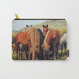 Wild horses in Livno in Bosnia and Herzegovina Carry-All Pouch