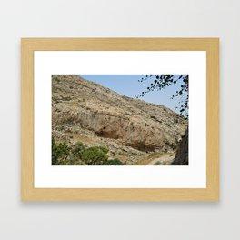 wadi kelt Framed Art Print