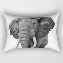 Bull elephant - Drawing in pencil Rectangular Pillow