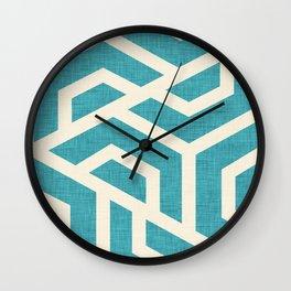 Maze Blue Wall Clock