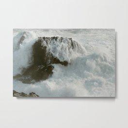 Crashing Waves on Sonoma Coast Metal Print