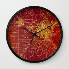 San Jose old map year 1899, united states vintage maps Wall Clock
