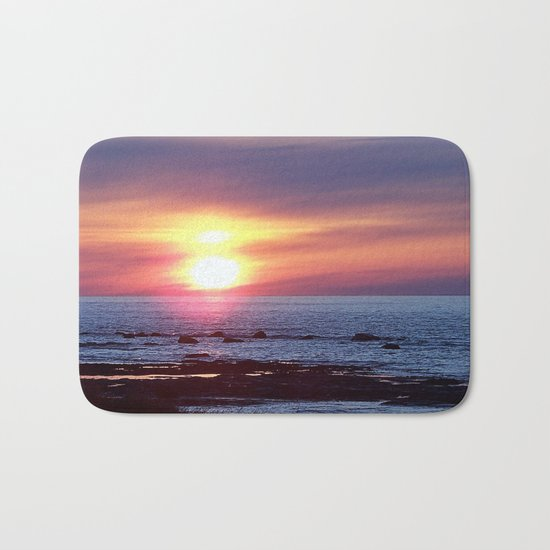 Double Sun Sunset Bath Mat