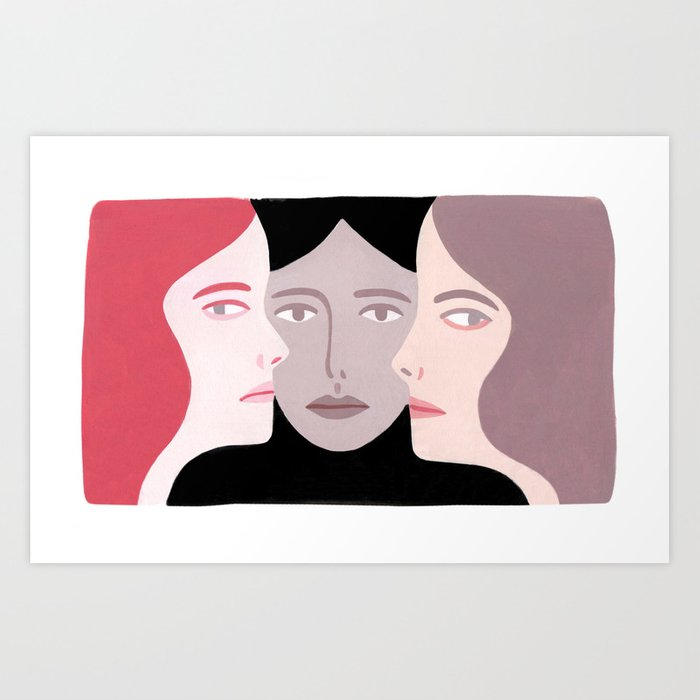 Three Women Art Print