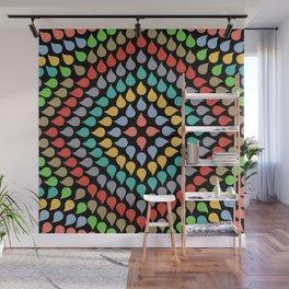 Seamless Colorful Raindrops VI Wall Mural