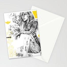 Eurydice among roses Stationery Cards