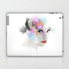 Watercolour Portrait of a girl Laptop & iPad Skin