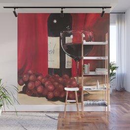 Red Wine, Still Life Wall Mural