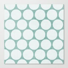robins egg blue and white polka dots Canvas Print