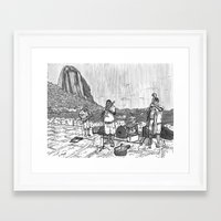 rio Framed Art Prints featuring Rio by Steven Mast
