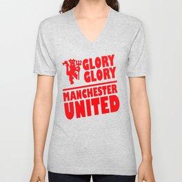 Slogan: Man United Unisex V-Neck