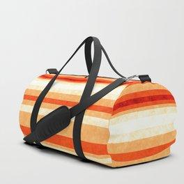 Red Orange Grunge Lines Duffle Bag