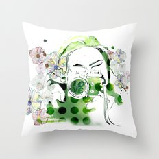 Camera Shy Throw Pillow