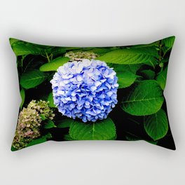 Blue Flower (Edited) Rectangular Pillow