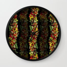 Hawaiian Haku Lei Wall Clock