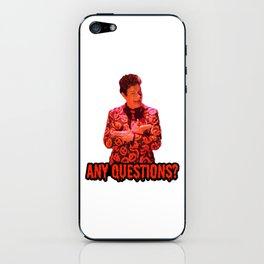 David S. Pumpkins - Any Questions? II iPhone Skin