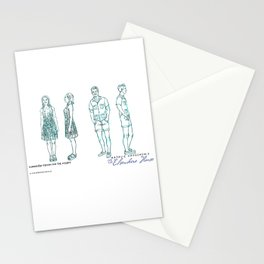No. 3 character designs for the Millers, pencil & ink Stationery Cards