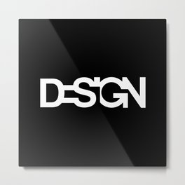 The black design Metal Print