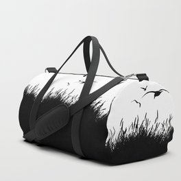 Seagulls Flying over Sand Dunes Duffle Bag