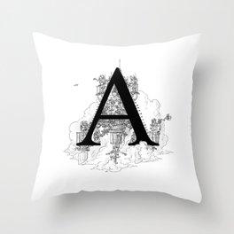 Alphabetanauts - A Throw Pillow