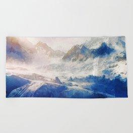 Mountain Winter Dream Beach Towel
