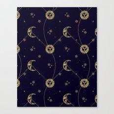 Mystic Moon & Sun Canvas Print