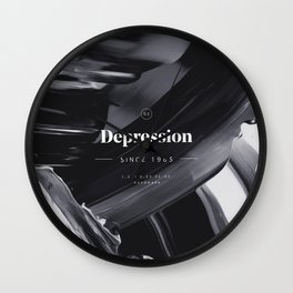 DEPRESSION Wall Clock