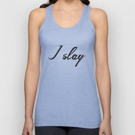 I slay ( gold typography) Unisex Tank Top