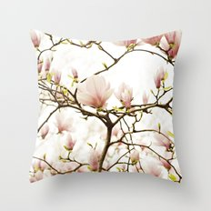 Queen For A Day Pink Magnolia Flower Throw Pillow