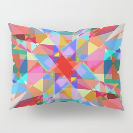 Multicolored Kaleidescope Abstract Pillow Sham