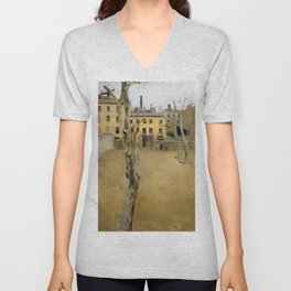 Courtyard Of The Old Barcelona Prison - Digital Remastered Edition Unisex V-Neck