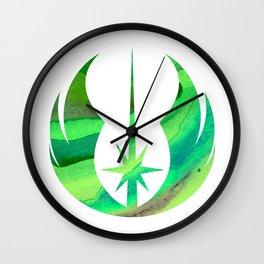 Star Wars Jedi Symbol in Green Wall Clock