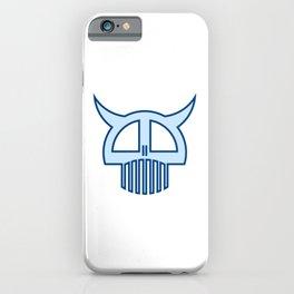 Big Blue Skull iPhone Case